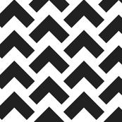 chevron arrow black and white