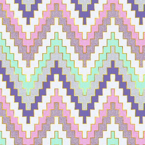 Luxe Chevron in Mint and Violet