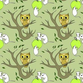 owl&mice-green
