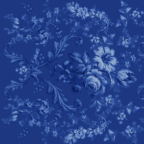 Faded Rococo in deep blueberry