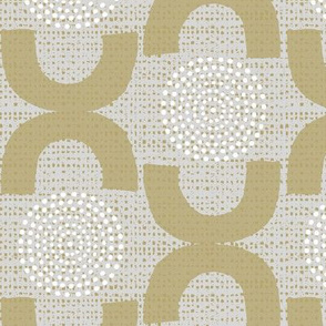 Mid century modern trellis and dots
