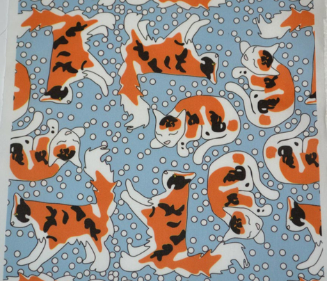 Calico Cats and Dots