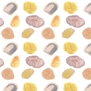 Stones White Background