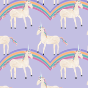 Unicorns & Rainbows on Purple