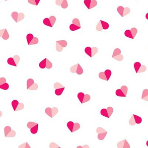 Abstract scandinavian style pastel pink hearts love print for Valentine