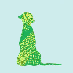 Big Dog - Light Blue, Green & Yellow