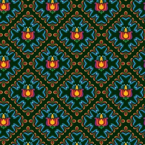 Folk Flowers Pattern 3