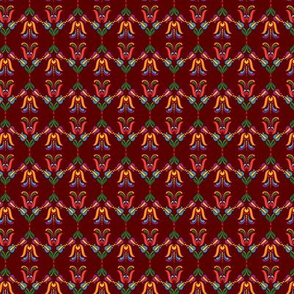 Folk Flowers Pattern 5