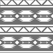 Aztec and Arrow Grey and White