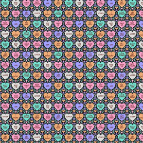 Anti-Valentines cross stitch - black