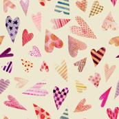 Watercolor Doodle Hearts