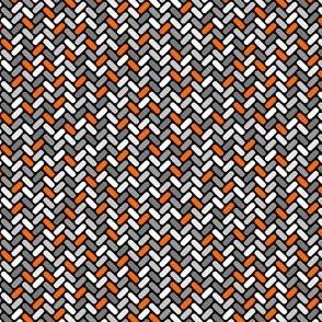 Gray and Orange Weave