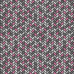 Gray and Pink Weave
