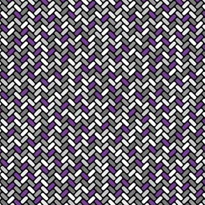 Gray and Violet Weave