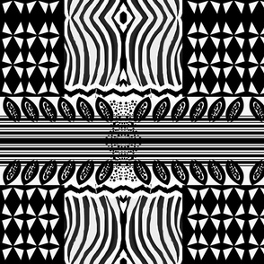 Black and White African-Inspired Patt