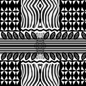 Black and White African-Inspired Patt