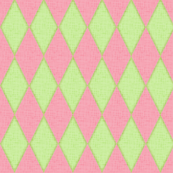 Harlequin - pink and green