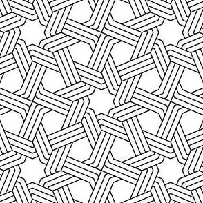 octagonal star X weave in 3