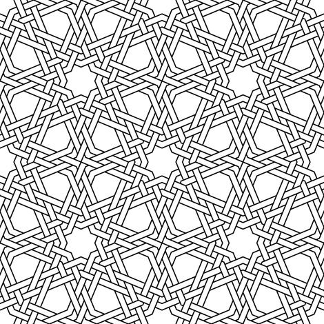 octagonal star X double-weave