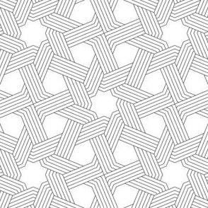 octagonal star X weave in 5