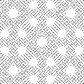 octagonal star X triple-weave