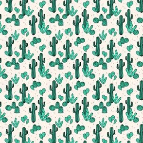 Cactus & Prickly Pear - Light Jade/Champagne (Tiny Version) by Andrea Lauren