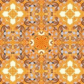 Illuminated Manuscript, Scroll Lattice Work