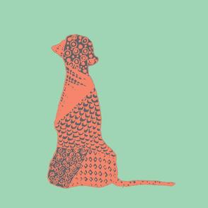 Big Dog -Mint & Orange