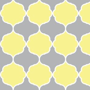 Hexafoil Yellow Gray White