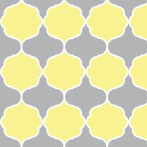 Hexafoil Yellow Gray White