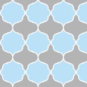 Hexafoil Baby Blue Gray White