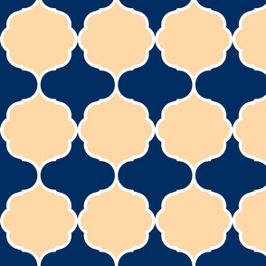 Hexafoil Peach Navy White