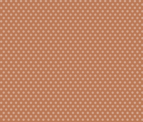 Mushroom Madness Polka Dots in Burnt Orange