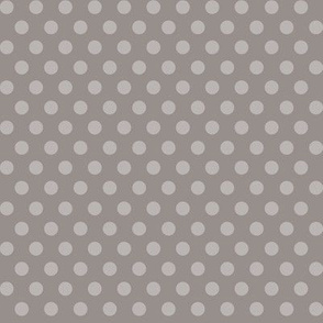 Mushroom Madness Polka Dots in Gray