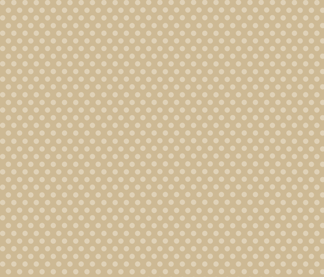 Mushroom Madness Polka Dots in Tan