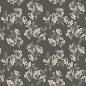 Winter floral print