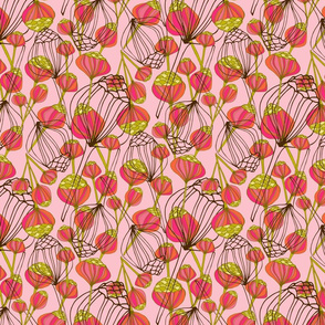 pink pin flowers