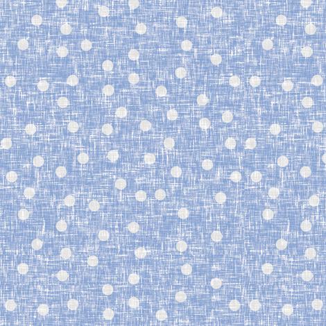 Grayed blue dots on linen weave