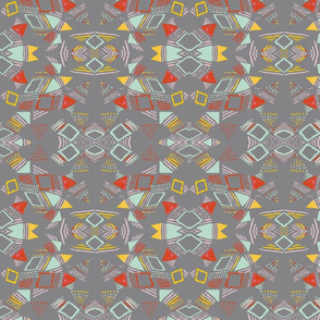 triangular pattern small mirrored