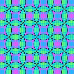 Stained Glass Plaid 01