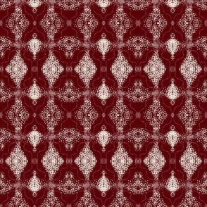 Marsala lace diamond damask