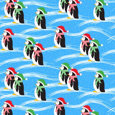 Merry Penguins (blue)