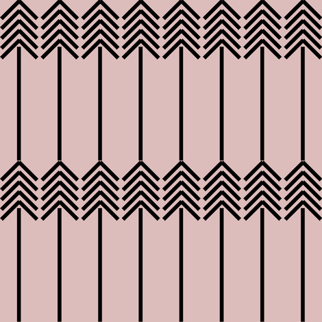 black arrows on baby pink