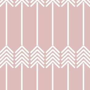 white arrows on baby pink