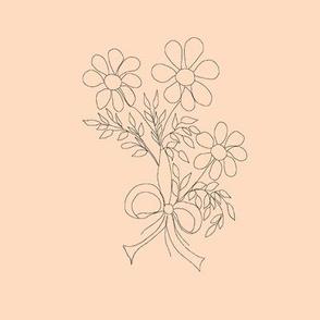 Floral Bouquet (tan background)