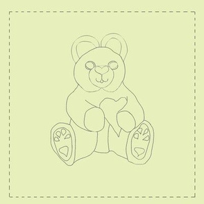 Teddy Bear With Heart (yellow background)