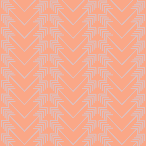 pink arrow herringbone on peach