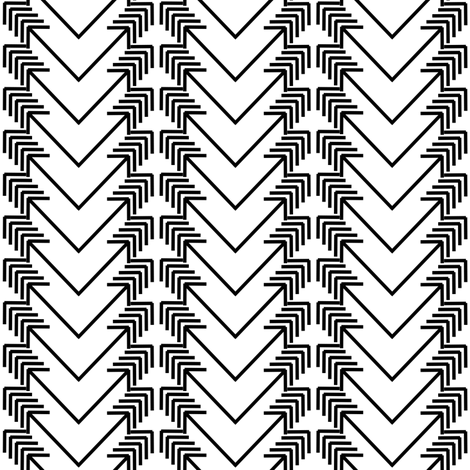 black arrow herringbone on white