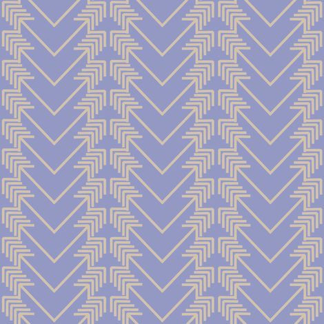 tan arrow herringbone on purple