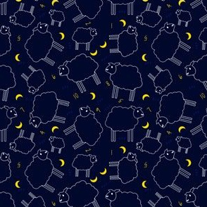 Counting Sheep Ditsy Tiled Pattern